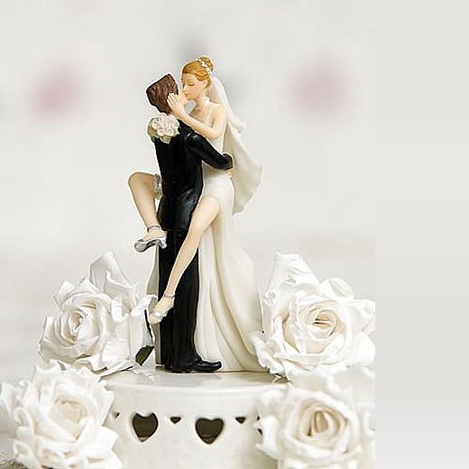 sexy couple kissing cake topper
