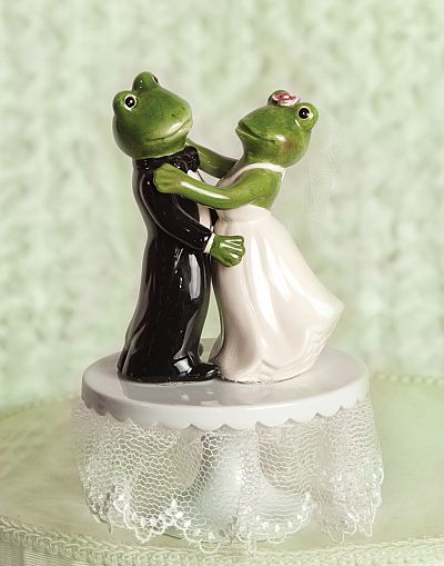 Dancing Froggie Wedding Cake Topper