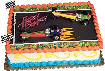 Dragster Cars Cake Kit