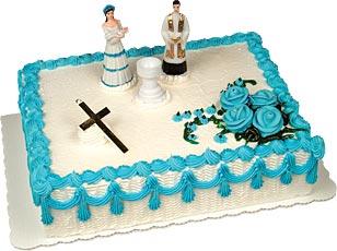 Christening Boy Cake Kit #2