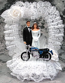 Motorcycle Bride And Groom