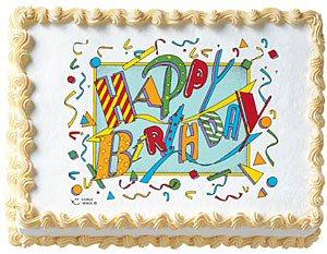 Jazzy Birthday Edible Image