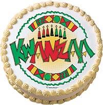 Kwanzaa Edible Image