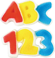 ABC And 123 Molded Sugars