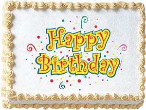 Birthday Dots Edible Image