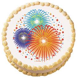 Fireworks Edible Image