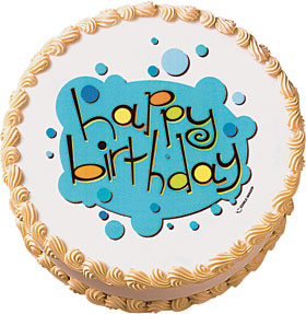 Birthday Bubbles Edible Image