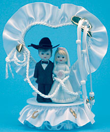 Western Bride And Groom In Dome