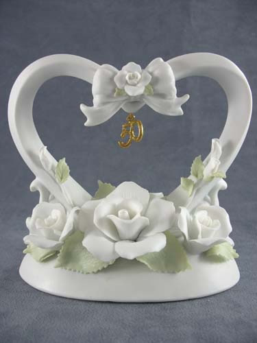 50th Anniversary Floral Heart
