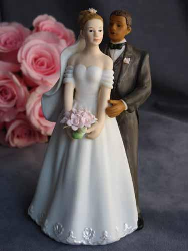Interracial Bridal Couple
