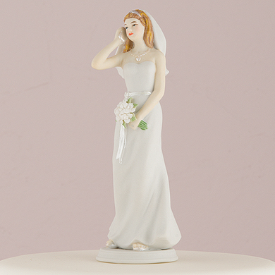 • Hand Painted Porcelain Cake Topper • Bride and Groom Figurine sold separately. • Hair color as shown in picture, custom hair colors available