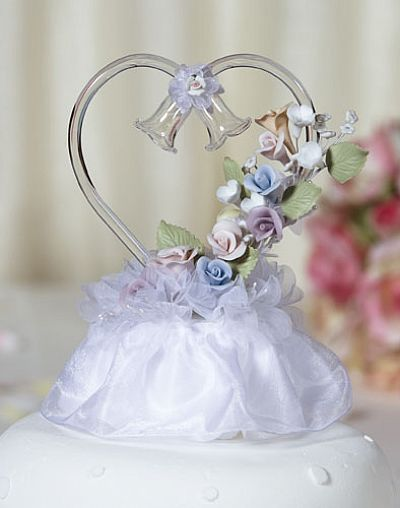 Glass Heart Rainbow Flower