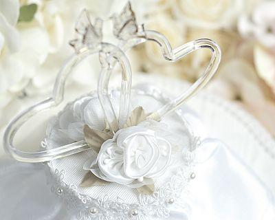 Satin Rose Hearts