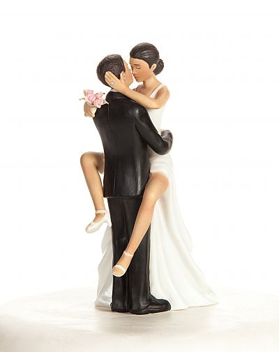 Funny Sexy African American Wedding Bride and Groom Cake Topper Figurine1