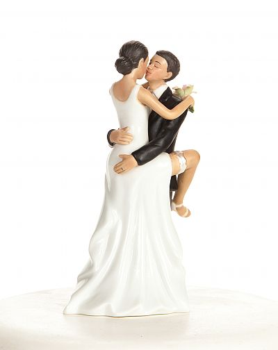 Funny Sexy African American Wedding Bride and Groom Cake Topper Figurine4