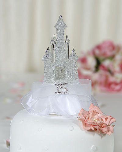 Rhinestone Quinceanera - Cinderella Castle Cake Toppers