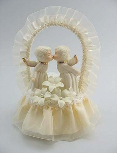 Cherub Angel Stephanotis Cake Topper