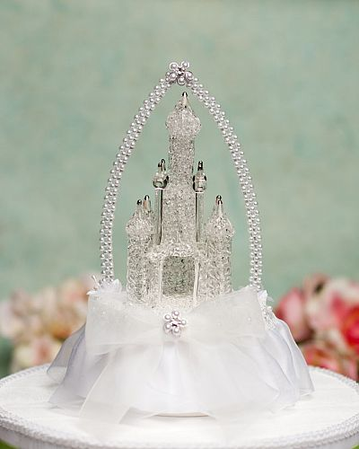 Cinderella Castle Wedding Cake Topper with Arch