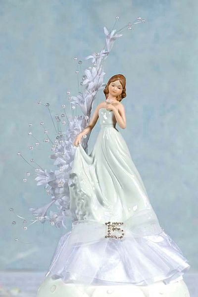 quinceanera cake topper pearl arch porcelain quinceanera sweet sixteen cake 6935