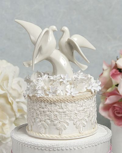 Ivory Dove Cake Topper