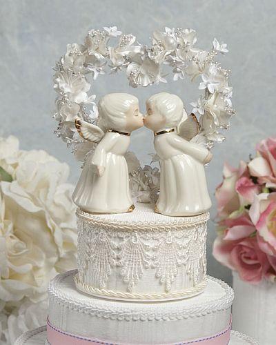 Ivory Cherub Cake Topper
