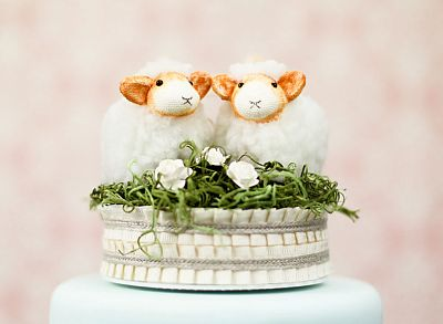 """""""Be my Baahby Forever"""" Wedding Cake Topper"""
