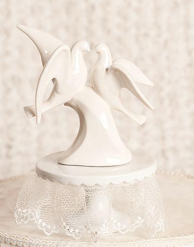 Modern Dove Wedding Cake Topper