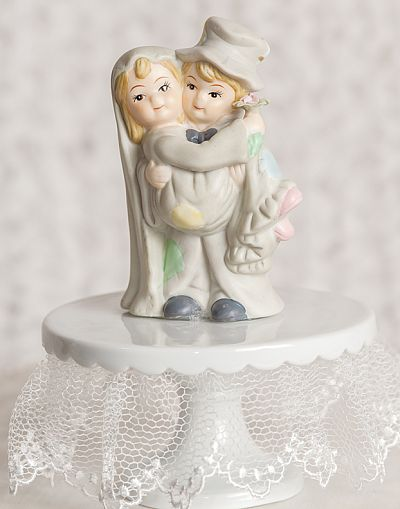 Cutesy Hobo Wedding Cake Topper