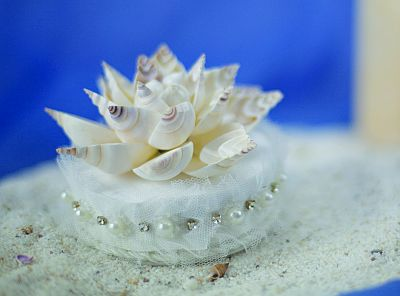 Shell Wedding Cake Topper