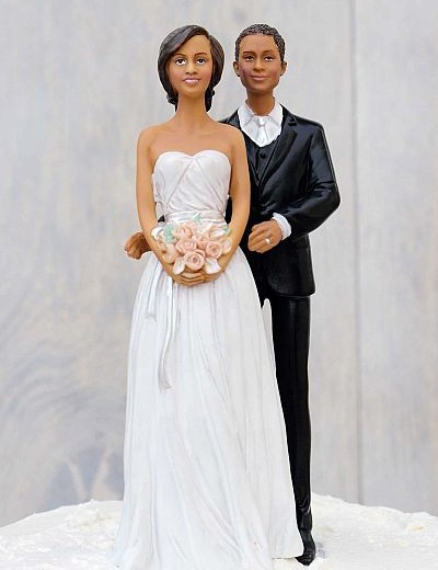 Stylish Contemporary African American Mix and Match Bride