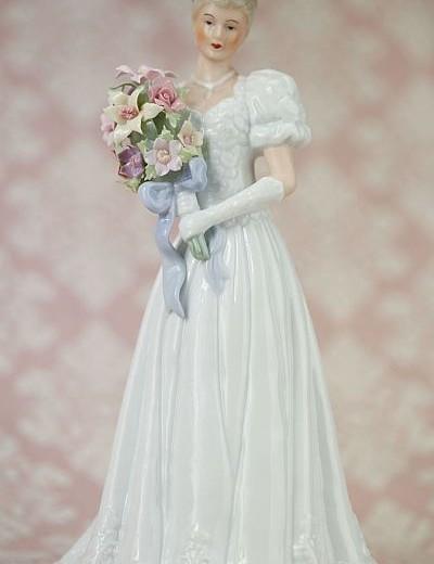 Blushing Bride Porcelain Wedding Figurine