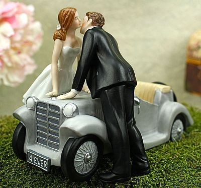 """I'll Love U 4 EVER"" Wedding Cake Topper Figurine"