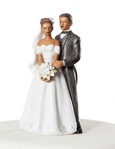 Elegant African American Wedding Couple