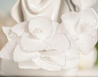Flower Wedding Cake Topper Couple 12 1