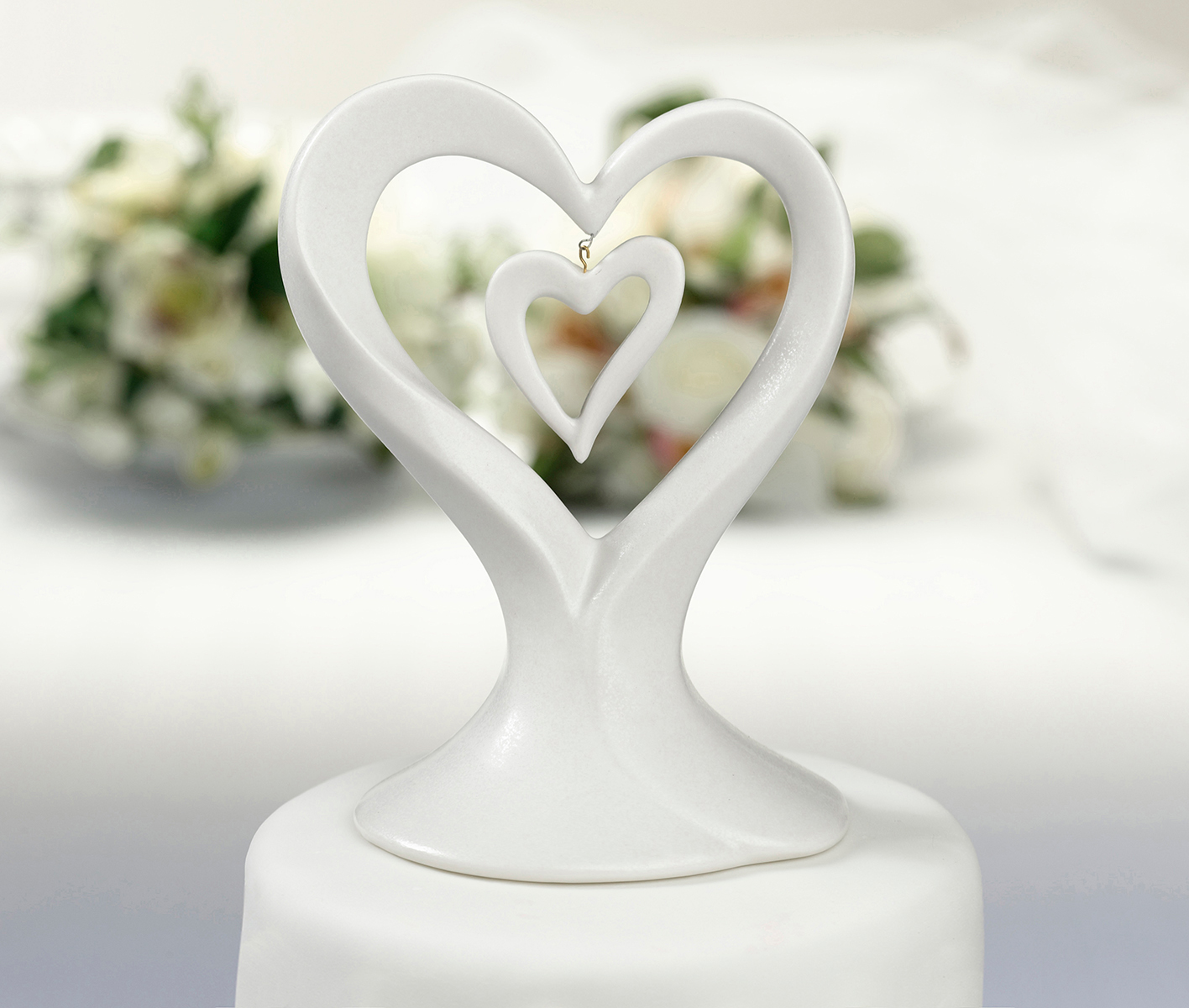 double heart wedding cake toppers caketopper justcaketoppers 13707