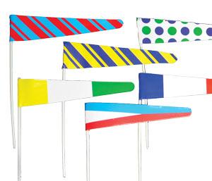 Colorful flag picks cake topper