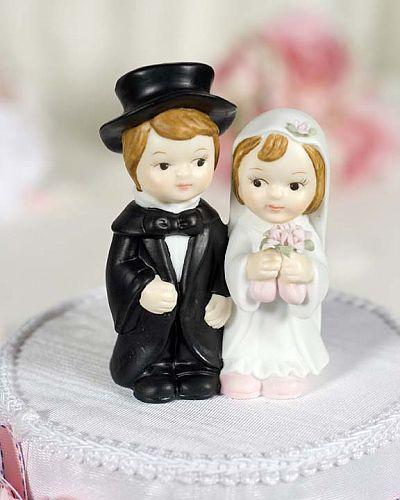 Cute Child Wedding Couple Figurine