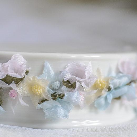 Flowery Rainbow Trim Porcelain Base