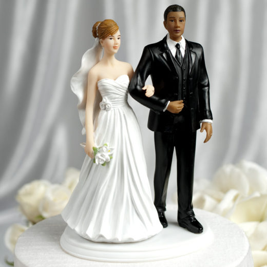 Interracial Wedding Couple Multiple Ethnicities