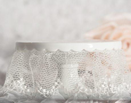 Lace Wedding Cup Cake Base