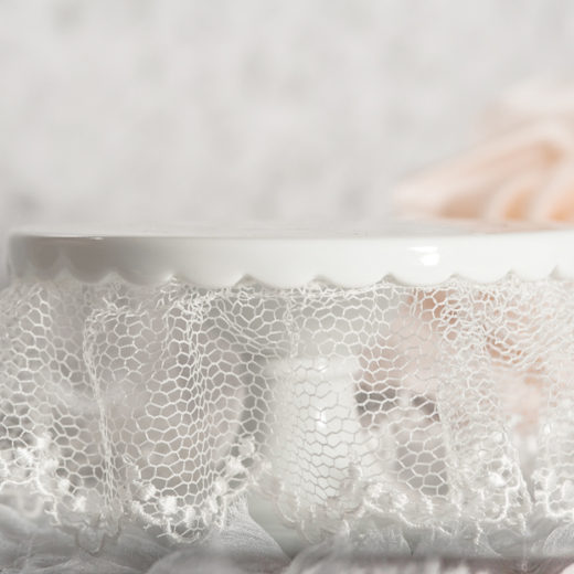 Lace Wedding Cup Cake Base