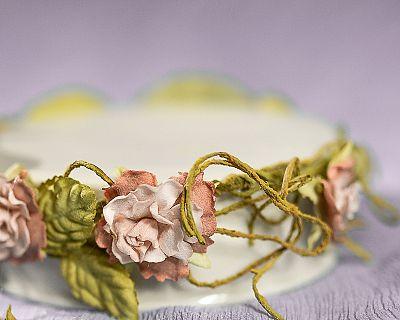 Paper Rose Vine Porcelain Base