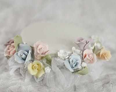 Porcelain Rainbow Rose Base