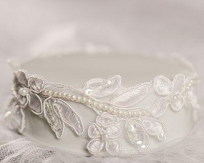 Vintage Embriodered Flower and Sequence Porcelain Base
