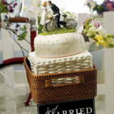 """A Kiss Above"" Bicycle Bride And Groom Couple Figurine7"