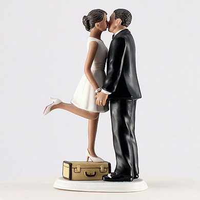 """A Kiss And We're Off!"" Figurine - Medium Skin Tone"