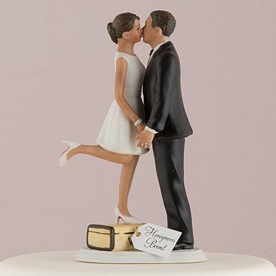 """A Kiss And We're Off!"" Figurine  Medium Skin Tone6"