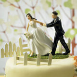 %22a race to the altar%22 couple figurine