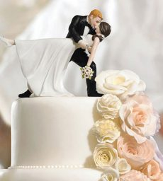 """A Romantic Dip"" Dancing Bride And Groom Couple Figurine"