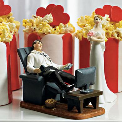 """Couch Potato"" Groom Figurine"